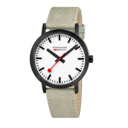 Mondaine unisex swiss-quartz analogico orologio con cinturino in tela a660.30360.61sbg