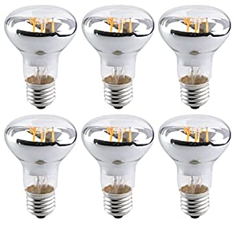 Bulbright 6PACK LED Filament Bulb R63/BR20, Flood Light ...