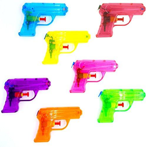*German-Trendseller  – 6 x Pistolets à Eau┃Couleur Transparent ┃Pool Party┃Petit Cadeau┃ l'anniversaire d'enfant┃Jeu de Plein air Vente