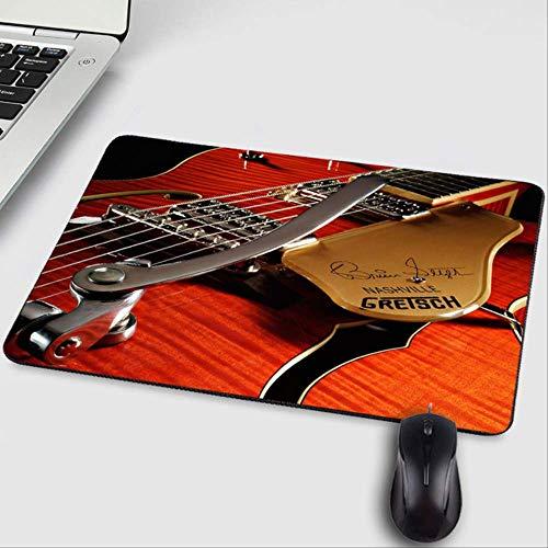 OLUYNG Mauspad, wunderschönes Fantasy-Gitarren-/Bass-Musikinstrumente Muster DIY Design PC Mauspad zum Dekorieren von Desktop Tisch Mauspad 220 x 180 x 2 mm