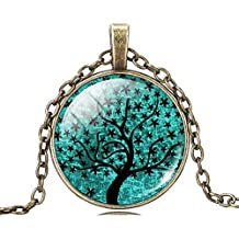 Premium & Stylish Charming Life Tree Art Glass Necklace by Zarood for Party, Evening & for Every Day Use, Ideal gift for Birthday, Anniversary, Valentine.