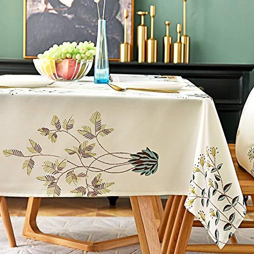 SiYang Home modernen Stil abwaschbare Tischdecke buntes Blumenmuster Muster Polyester Cover für Küche Eßzimmer Tabletop Dekoration, Polyester, Blume, 55x94.5In -