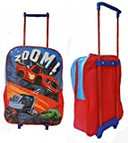 Children Kids Official Blaze & Monster Machine Design Travel Luggage Trolley Bag by Vinsani