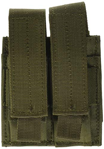Voodoo Tactical MOLLE Compatible Double Pistol Magazine Pouch - Olive Drab