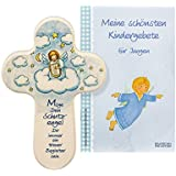 Children's Cross Guardian Angel with Harp