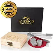Un Set Regalo di Pietre per Whisky da Amerigo - Set di 9 Pietre da (One Way Kit)