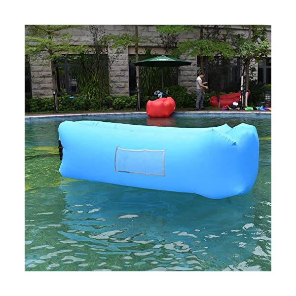 Siphly Inflatable Lounger, Air Sofa Hammock with Headrest, Waterproof & Anti-Air Leaking, Comfortable Inflatable Couch for Pool & Beach Parties, Traveling Camping Picnics & Backyard, Music Festivals 6