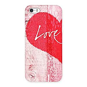 Enticing Love Pink Multicolor Back Case Cover for iPhone 5 5S