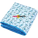 Handcraftd Summer Special Anti-Pilling Super Soft Cotton Floral Print Single Bed Dohar/ Summer Ac Blanket- Blue Iris Flowers
