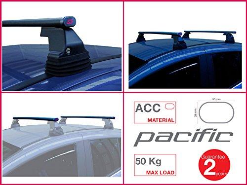 Paar Dachträger G3Pacific Edelstahl 1,1m mit Sockel Fix Point