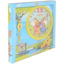 Disney Niños Reloj De Pared Reloj y despertador valor paquete de regalo–Winnie the Pooh