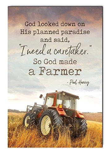 Traktor-display (P. Graham Dunn Caretaker God Made A benötigen Farmer Traktor 30,5x 45,7cm Schild aus Holz Bedruckt, Dekorative Wandtafel)