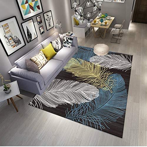 BELOVINGSHOP Wohnzimmerteppich, moderner minimalistischer Druckteppich Schlafzimmerteppich, Rutschfeste Teppichmatte (120 × 160 cm),1