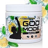 GAMER SUPPS God Mode Gaming Booster, der eSports Engery Drink für Gamer, Multivitamin Amino Getränk, wenig Kalorien und wenig Zucker, 280g = 40 Portionen, Geschmack:Cola - Zitrone