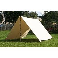 Sonnensegel 4 x 5 m LARP Reenactment Lagerplane Mittelalter Zelt frame tent Ritter