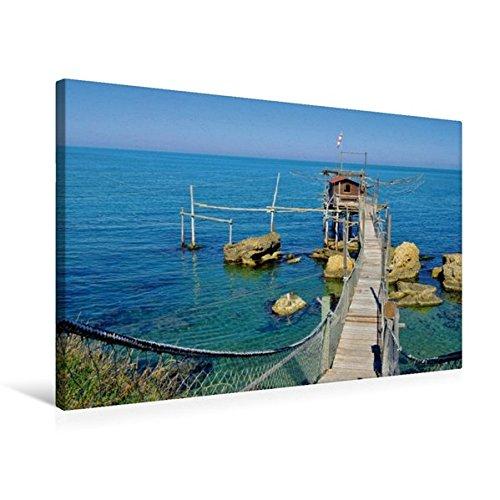 Calvendo Premium Textil-Leinwand 75 cm x 50 cm quer, Trabucco | Wandbild, Bild auf Keilrahmen, Fertigbild auf echter Leinwand, Leinwanddruck: Apulien Orte Orte