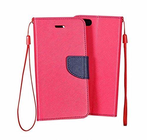 Moozy due colori Fancy Diary Custodia Flip cover con funzione di appoggio / cinturino / supporto del telefono in silicone per Nokia 630 / 635 Lumia Rosa / Blu