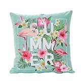 Housse de coussin beiguoxia - Motif de flamand rose à la mode - Décoration de maison, Polyester, 7#, Taille unique