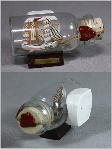 Kühlschrank Magnet Mini Buddelschiff Lili Marleen - Extra starker Neodym Magnetpin