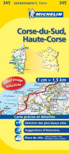 Carte DPARTEMENTS Corse-du-Sud, Haute-Corse