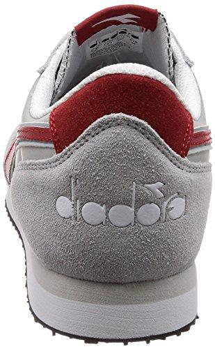 Diadora K-Run II, Sneaker a Collo Basso Uomo Glacier Grey / Pompeian Red