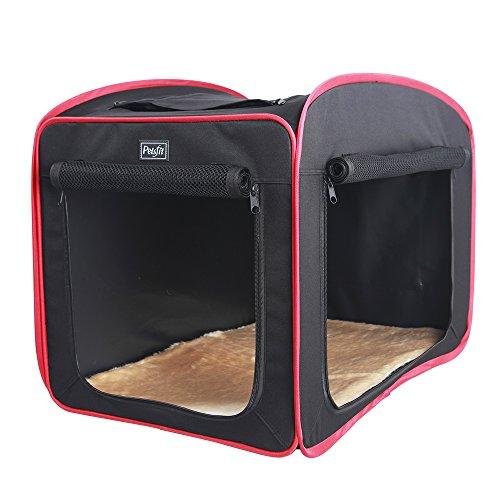 Petsfit Cane da campeggio tenda da campeggio pieghevole per cani, peso leggero poppa in cassa da viaggio, tessuto morbido da animale domestico con tappetino, 68 x 47 x 48cm