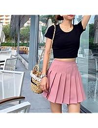 0be943fbcb GUOPIER Falda Corta Diseño Exclusivo De Estilo Minimalista Y Glamour  Femenino Faldas Plisadas De Cintura Alta