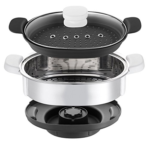 Moulinex XF384B10   Accesorio vapor (para Cuisine Companion  bol para vapor interno y externo)  color plata