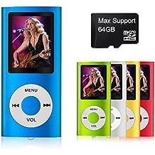 mymahdi–Digital, compacto y portátil MP3/MP4reproductor (Max apoyo 64GB Micro SD Card) con visor de fotos, e-book lector y grabadora de voz y radio FM VIDEO película en color azul oscuro