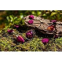 Anello di vetro e petali di rosa rossi - gioielli fatti a mano fiori naturali secchi - 20mm - regali per lei - Regalo Natale - Black Friday