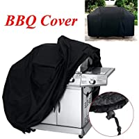 Tegollus Barbecue Cover Heavy Duty Waterproof Breathable Oxford fabric Extra Large 170cm (Black)