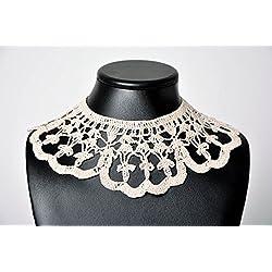 Cuello al crochet hecho a mano regalo original para mujer bisuteria artesanal