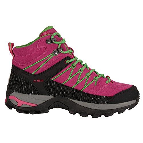 Outdoor Wander-Trekkingschuh für Damen von CMP, wasserdicht & rutschfest in vielen Farben erhältlich. Von Pignolo-su, der Stiefel für Draußen. Sondermodell Ragel Ibisco-Black-Green
