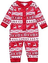 Zolimx Weihnachtshirsch- Family Clothes Damen Herren Kinder Baby Hirsch T Shirt Tops Bluse Hosen Pyjamas Weihnachten Set Familie Kleidung