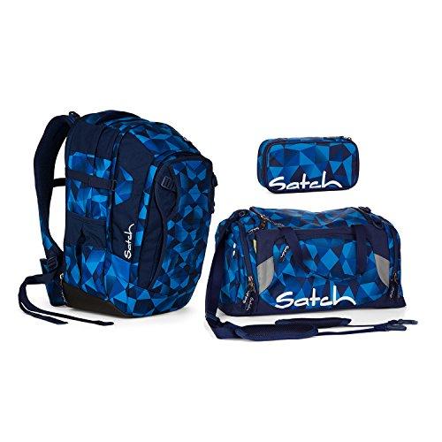 Satch Match Blue Crush Schulrucksack Set 3tlg. - 2 Buch Etagen