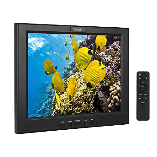 EYOYO Monitor de color CCTV HDMI 12 pulgadas Pantalla LCD de seguridad de vídeo y audio Entrada AV USB con altavoz (12'' 1024x768)
