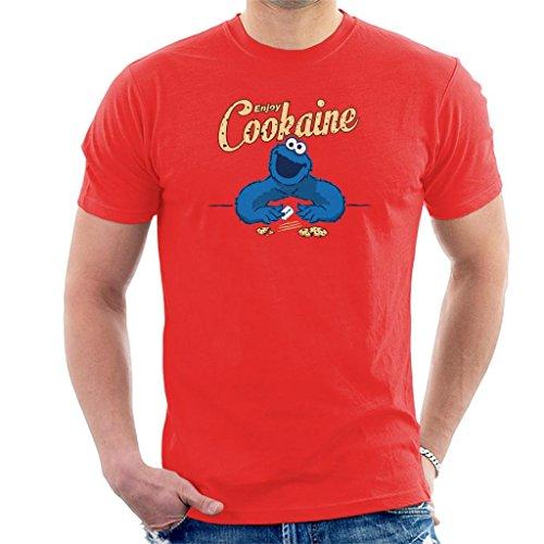 Cookaine Cookie Monster Men's T-Shirt ()