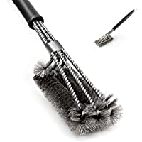 Parrilla del Cepillo, 3 en 1 Cabezales de Limpieza del Depurador del Cepillo de Alambre de Acero Inoxidable Tejida de la Cerda