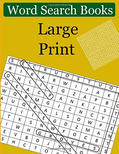 Word Search Books  Large Print: Giant Print Word Searches for Adults & Seniors por ponnipa kuna