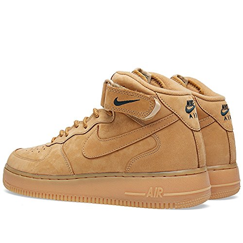 Nike Air Force 1 Mid '07 Prm Qs, espadrilles de basket-ball homme Marron - Marrón (Flax / Flax-Outdoor Green)