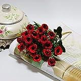 ZTTLOL Künstliche 20 Köpfe Kleine Rosen Seidenblumen Dekorative Blume Künstliche Blumen Für Hochzeit Home Party Dekoration