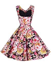 Lindy Bop Ophelia Black Floral, Robe Femme