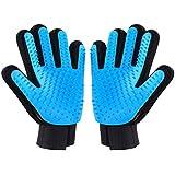 Kinmax 2PCS Pet Bürste Handschuh,Haustier Grooming Bürsten für Hunde, Effiziente Pflegehandschuhe für Katzen, Hunde, Pferde, Enthaarungsbürste