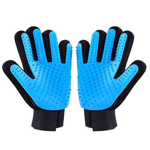 Kinmax 2PCS Pet Bürste Handschuh,Haustier Grooming Bürsten für Hunde, Effiziente Pflegehandschuhe für Katzen, Hunde, Pferde, Enthaarungsbürste -