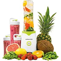 Andrew James Family Fit Smoothie Maker Machine Compact Blender includes 2 x 600ml & 2 x 300ml Sports Bottles with Spill Proof Secure Lids & Bag Clips