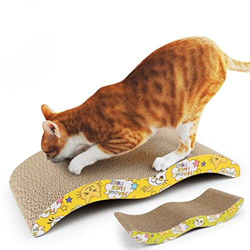Cuscini per il Gatto, Legendog Gatto Cat W A Forma di Cartone Ondulato Gatto Graffiato Giocattolo Gatto Letto di Riposo per Gattini