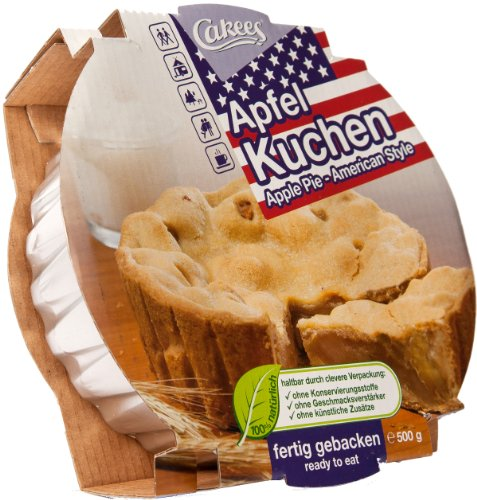 Cakees Apple Pie - Apfel Kuchen American Style, fertig gebacken, 2er Pack (2 x 500 g)
