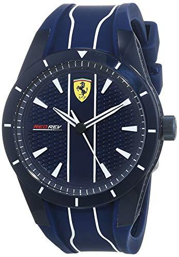 Scuderia Ferrari Reloj Analógico para Hombre de Cuarzo con Correa en Silicona 830541