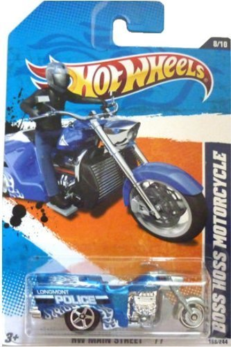2011 Hot Wheels #168 HW Main Street #8/10 Boss Hoss Motorcycle LONGMONT POLICE 1:64 Scale Collectible Die Cast Car by Hot Wheels