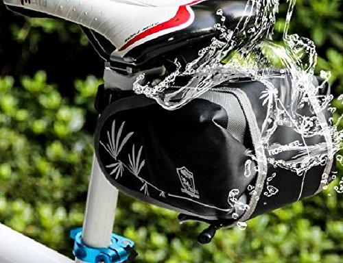13613neuesten Modische Wasserdicht Mountain Road Schwanz Fahrrad Tasche Satteltasche Bike Tasche Sitz Tasche schwarz Schwarz